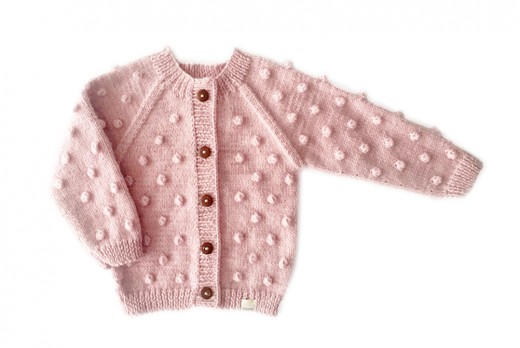 "BUBBLE CARDIGAN ""ROSE"""